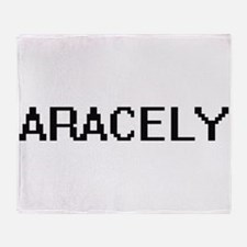 Aracely Digital Name Throw Blanket