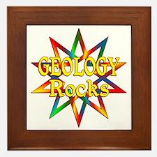 Geology Rocks Framed Tile