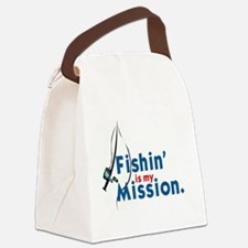 FISHIN' IS MY MISSION' Canvas Lunch Bag