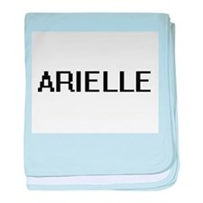 Arielle Digital Name baby blanket