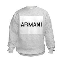 Armani Digital Name Sweatshirt