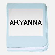 Aryanna Digital Name baby blanket