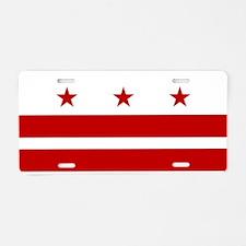 Washington D.C. Flag Aluminum License Plate