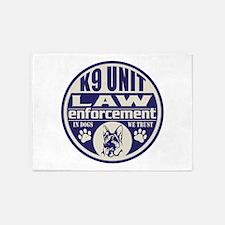 K9 In Dogs We Trust Blue 5'x7'Area Rug