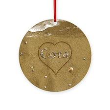 Cora Beach Love Ornament (Round)