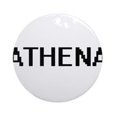 Athena Digital Name Ornament (Round)