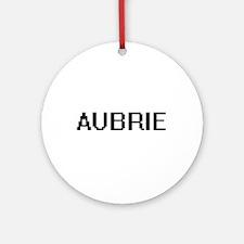 Aubrie Digital Name Ornament (Round)