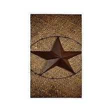 burlap western texas star Area Rug