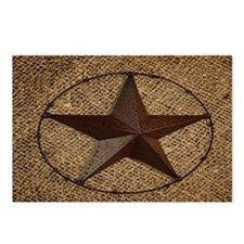 burlap western texas star Postcards (Package of 8)