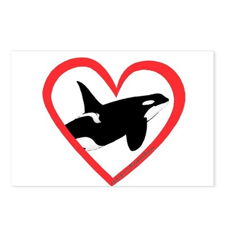 Orca Heart Postcards (Package of 8)