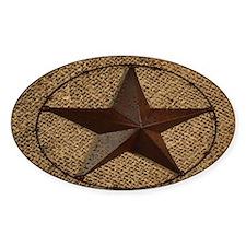 burlap western texas star Decal