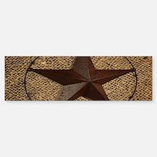 burlap western texas star Bumper Bumper Bumper Sticker