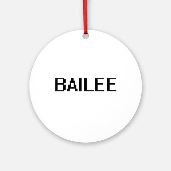Bailee Digital Name Ornament (Round)