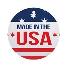 Made In USA Round Ornament