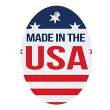 Made In USA Oval Ornament