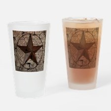 rustic texas lone star Drinking Glass