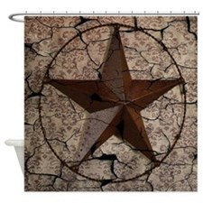 rustic texas lone star Shower Curtain