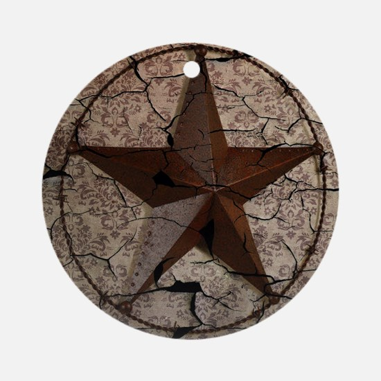 rustic texas lone star Round Ornament