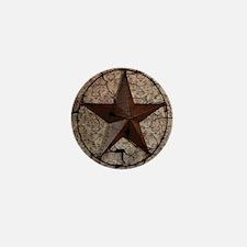 rustic texas lone star Mini Button