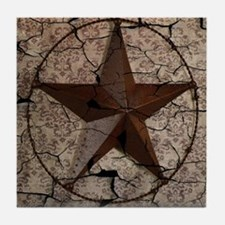 rustic texas lone star Tile Coaster
