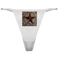 rustic texas lone star Classic Thong