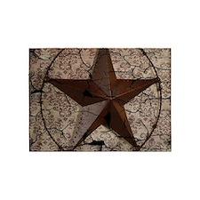 rustic texas lone star 5'x7'Area Rug