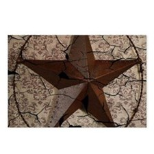 rustic texas lone star Postcards (Package of 8)