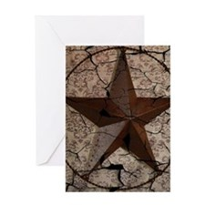 rustic texas lone star Greeting Cards