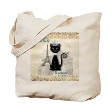 Oo-la-la French Kitty Princess Tote Bag