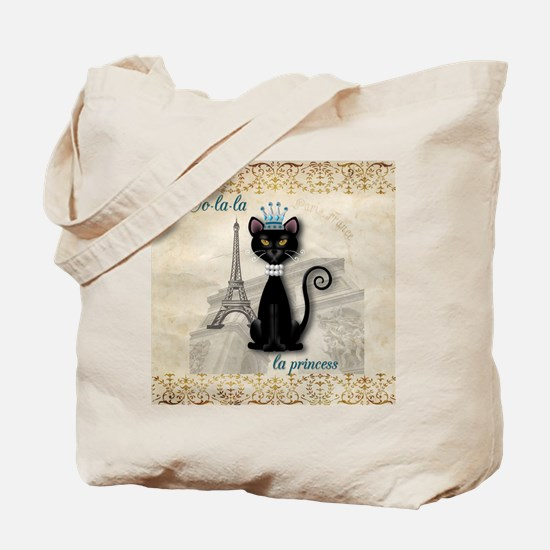 Oo-la-la French Kitty Princess Tote Bag
