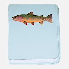 Cutthroat Trout stream baby blanket