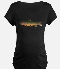 Cutthroat Trout stream Maternity T-Shirt
