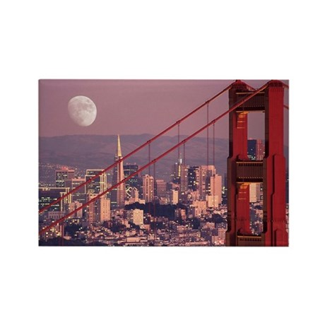 Moon Over The Gate Rectangle Magnet (10 pack)