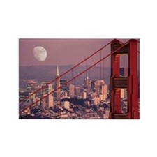 Moon Over The Gate Rectangle Magnet
