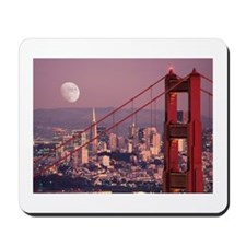 Moon Over The Gate Mousepad