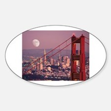 Moon Over The Gate Oval Decal