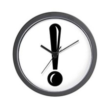 Exclamation Point Wall Clock