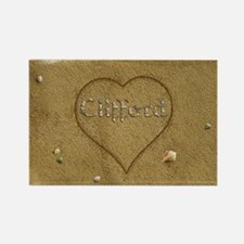 Clifford Beach Love Rectangle Magnet