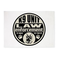 K9 In Dogs We Trust Black 5'x7'Area Rug