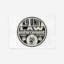 K9 In Dogs We Trust Black 5'x7'Area Rug