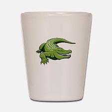 Green Alligator Shot Glass
