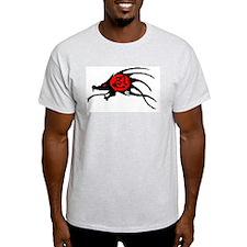 Ninpo Demon Ash Grey T-Shirt