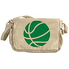 Basketball Green Messenger Bag