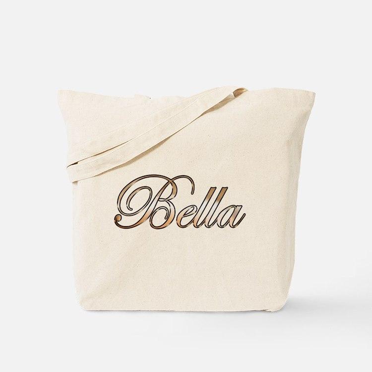 Gold Bella Tote Bag