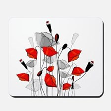 Beautiful Red Whimsical Poppies Mousepad