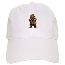 Angry Bear Baseball Baseball Cap