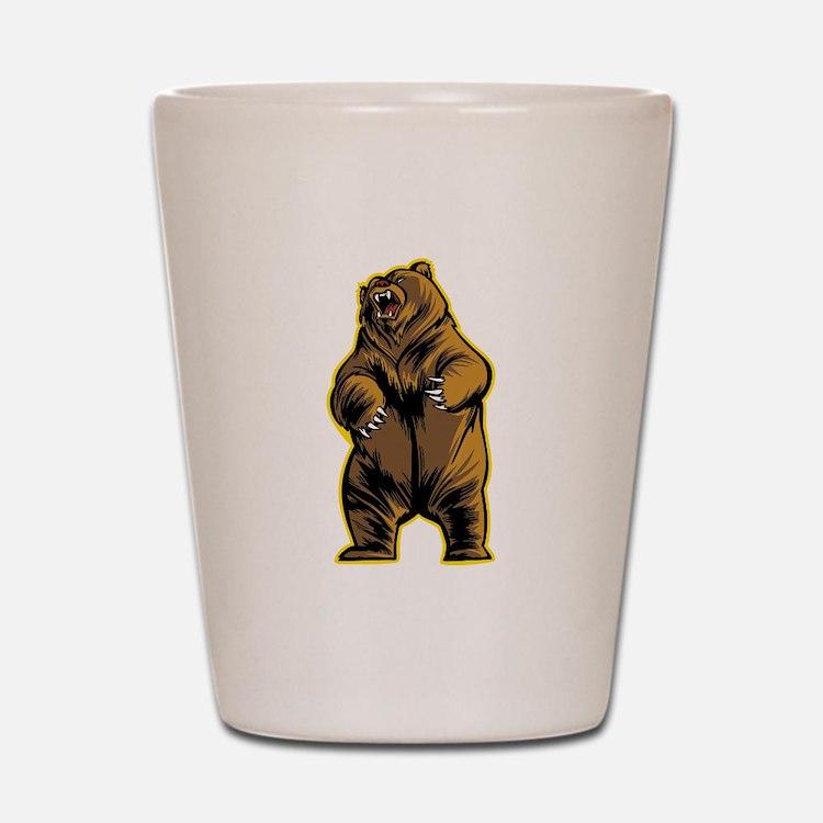 Angry Bear Shot Glass