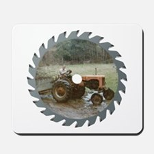 Vintage Tractor Saw Blade Mousepad