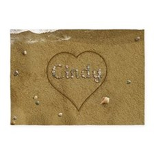 Cindy Beach Love 5'x7'Area Rug