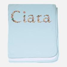 Ciara Seashells baby blanket